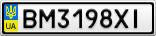 Номерной знак - BM3198XI