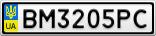 Номерной знак - BM3205PC