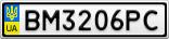 Номерной знак - BM3206PC