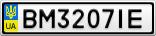Номерной знак - BM3207IE