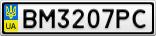 Номерной знак - BM3207PC