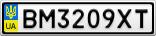 Номерной знак - BM3209XT