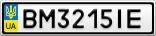 Номерной знак - BM3215IE