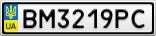 Номерной знак - BM3219PC