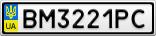 Номерной знак - BM3221PC