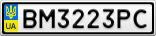 Номерной знак - BM3223PC