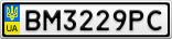 Номерной знак - BM3229PC