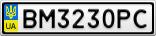Номерной знак - BM3230PC