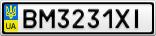 Номерной знак - BM3231XI