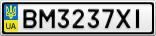 Номерной знак - BM3237XI