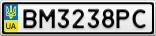 Номерной знак - BM3238PC