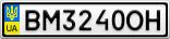 Номерной знак - BM3240OH