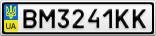 Номерной знак - BM3241KK