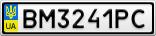 Номерной знак - BM3241PC