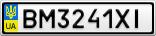 Номерной знак - BM3241XI