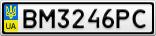 Номерной знак - BM3246PC