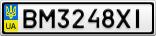 Номерной знак - BM3248XI