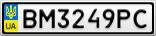 Номерной знак - BM3249PC