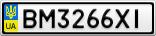 Номерной знак - BM3266XI