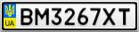Номерной знак - BM3267XT