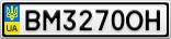 Номерной знак - BM3270OH