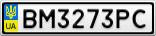 Номерной знак - BM3273PC
