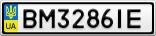 Номерной знак - BM3286IE