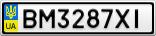 Номерной знак - BM3287XI