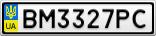 Номерной знак - BM3327PC