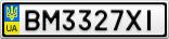 Номерной знак - BM3327XI