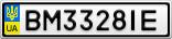 Номерной знак - BM3328IE