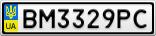 Номерной знак - BM3329PC
