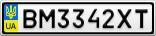 Номерной знак - BM3342XT