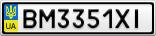 Номерной знак - BM3351XI