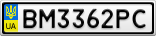 Номерной знак - BM3362PC