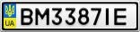 Номерной знак - BM3387IE