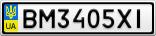Номерной знак - BM3405XI