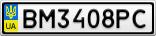 Номерной знак - BM3408PC