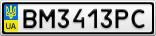 Номерной знак - BM3413PC