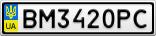 Номерной знак - BM3420PC
