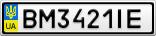 Номерной знак - BM3421IE