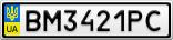 Номерной знак - BM3421PC