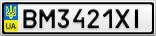 Номерной знак - BM3421XI