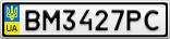 Номерной знак - BM3427PC