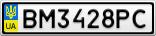 Номерной знак - BM3428PC