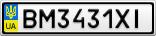 Номерной знак - BM3431XI