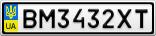 Номерной знак - BM3432XT