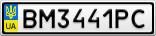 Номерной знак - BM3441PC