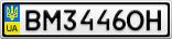 Номерной знак - BM3446OH