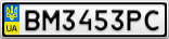 Номерной знак - BM3453PC